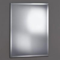 Miroir biseauté pour lavabo blanc