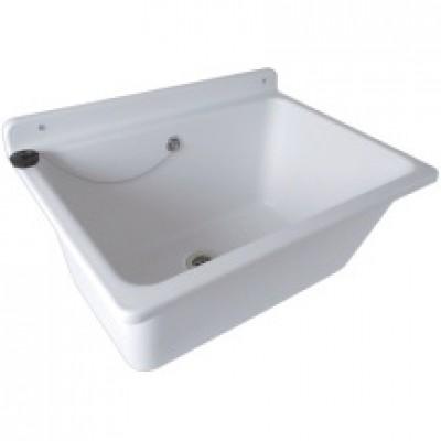 Bac à laver blanc BACLAVB pour fixation murale 610x455x285 mm NICOLL