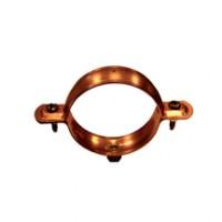 Collier de descente cylindrique à embase 7/150 cuivre 12/10 diamètre 100mm FRENEHARD