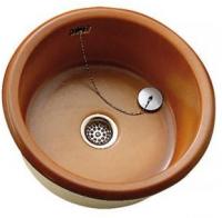 Évier VEXIN céramique + planche à découpe en hêtre diamètre 45cm ALLIA