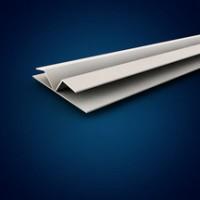 Finition double profilé H pliable 90° extérieur pour lambris PVC blanc longueur 4m MEP