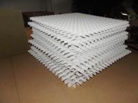 Grille de défilement hauteur blanc 20mm 0,6x0,6m 33x33mm RICHTER SYSTEM