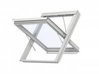 Fenêtre exutoire de désenfumage pneumatique à déflecteurs + thermodéclencheur Whitefinish 114x118cm VELUX