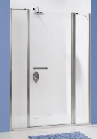 Paroi fixe PRESTIGE porte pivotante niche réversible blanc 120cm LEDA