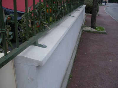 Couvertine 2 Pentes Lisse Béton Longueur 100cm ép 4cm Alentour