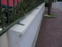 Couvertine 2 pentes lisse béton longueur 100cm ép. 4cm ALENTOUR