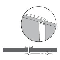 Profilé de liaison aluminium poli brillant 2500mm LAZER