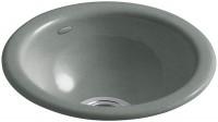Evier de luxe rond IRON/TONES grey diamètre 36,8cm JACOB DELAFON-KOHLER