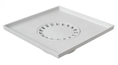 Receveur siphonné gris 400x400mm FIRST PLAST