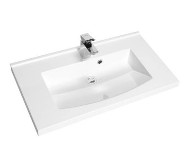 Plan vasque PREFIXE  80cm polybéton AQUARINE