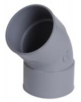 Coude PVC Femelle-Femelle diamètre 140mm 45 degré NICOLL