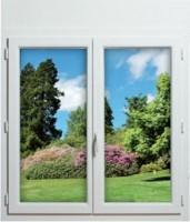 Fenêtre 2 vantaux PVC 1150x1200mm ouvrant à la française gamme NEOVISION NEOBAIE