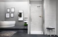 Porte de douche YOUNG 1B pivotante 78cm vitré NOVELLINI