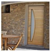 Porte d'entrée FANGO, gamme bois NATURE LINE, 1 vantail 2150x900mm - MAB