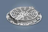 Grille fonte ronde plate OPTIMA GR D400 diamètre 850-600mm