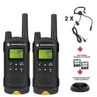 Pack de 2 talkie walkie XT180 + chargeur + oreillettes ASK-QUONEX