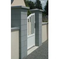 Elément de pilier béton ECO gris 32x32x16,7cm