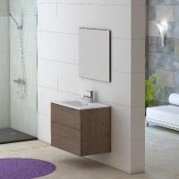 Meuble salle de bain GALSAKY chêne moyen 80x60x45cm BREZINS