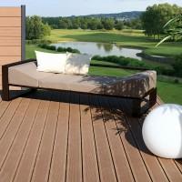 Lame de terrasse bois composite Forexia Elégance brun exotique rainuré 23x138x4000mm SILVADEC