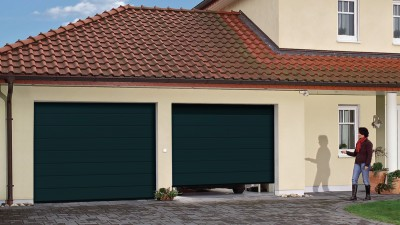 Porte de garage sectionnelle edw mrp pr mont 7016 avec for Garage ravon saint etienne