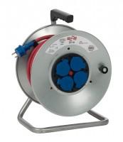 Enrouleur LES INDISPENSABLES 4 prises HO7RN-F 3G métallique 2.5mm² 33m