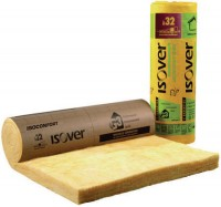 Rouleau laine de verre revêtu Isoconfort 32 Isover ép. 60 mm R = 1,85 m².K/W - rouleau 1,2x0,6 m ISOVER