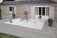 Profil de finition composite gris perle largeur 22,8cm épaisseur 10mm SERVARY