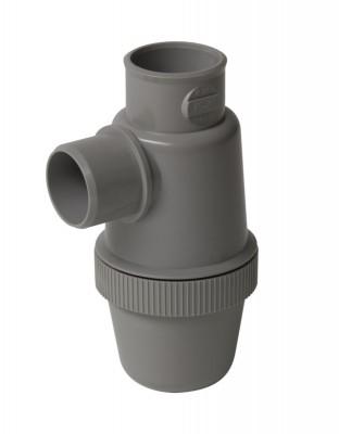 Siphon de lavabo à coller verticale gris diamètre 32 NICOLL
