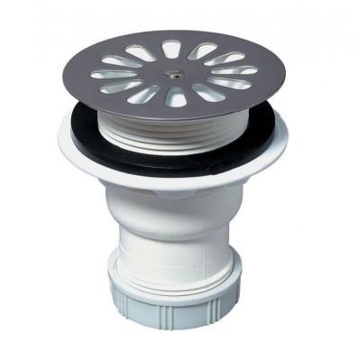 Bonde de douche siphon sortie verticale diamètre 60mm WIRQUIN