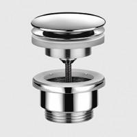 Vidage lavabo CLIC CLAC 854A sans trop plein chromé BASIC SEGMENT