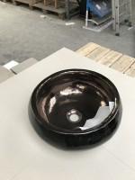 Vasque à poser ronde noir WOLSELEY