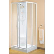paroi de douche riviera a coulissants fixe 80 verre transparent blanc novellini libourne. Black Bedroom Furniture Sets. Home Design Ideas