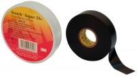Ruban vinyle SCOTCH SUPER 33 PLUS largeur 19mm rouleaux de 20m 3M