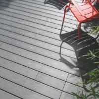 Profil de finition bois composite co-extrudé SANCTUARY vis earl grey 24x137x2440mm