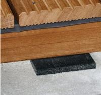 Tampon d'isolation lame pour terrasse 100x100x8mm paquet de 25 pièces