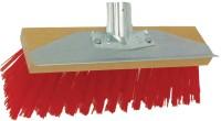 Balai cantonnier synthétique rouge grattoir tôle largeur 32cm