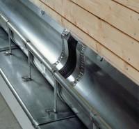 Embout à talon et moignon cylindrique en zinc naturel pour gouttière de 25 côté gauche diamètre 80mm VMZINC