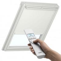Store occultant solaire DSL pour fenêtre de toit blanc unie 55x70cm