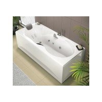 Tablier frontal Full verre blanc fixe 160cm KINEDO DOUCHE