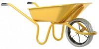 Brouette EXPERT roue increvable jaune 100L HAEMMERLIN