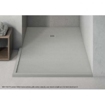 Receveur de douche NEO texture lisse bianco 76-80x111-120cm HIDROBOX