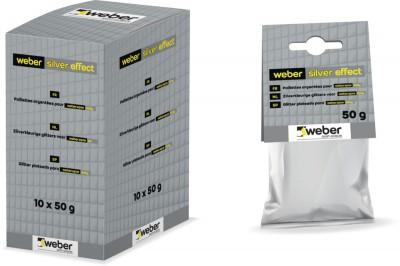 Paillettes argentées WEBER SILVER effect pour colle Weber.epox easy sachet de 50g