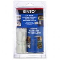 Kit SINTOFER pour réparation des surfaces endommagées 1/2l résine pour ½m² tissu en 500ml SINTO