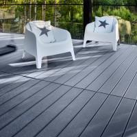 Lame de terrasse PROFI DECK bois composite gris granite 28x150mm 4m PLTF  BOIS