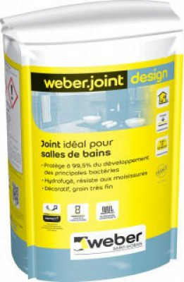 Mortier WEBER.JOINT DESIGN beige pierre E03 sac de 5kg