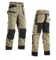 Pantalon polycoton poches flottantes beige/noir taille 46/C52 BLAKLADER WORKWEAR