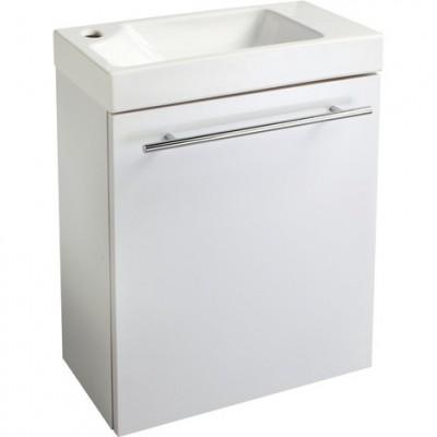 Ensemble Piccolo lave-mains en céramique + meuble blanc ALTERNA