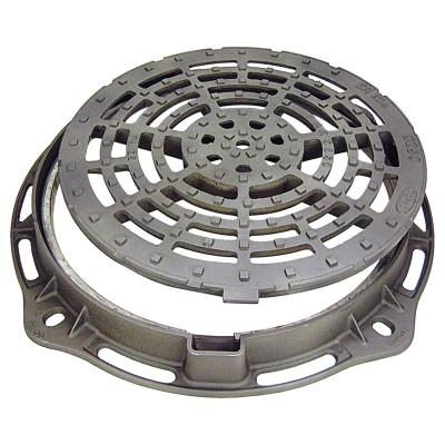 Grille de parking ronde PARG 850 - fonte ductile - noir - C250 - Ø 650 mm - ép. 75 mm FONDATEL