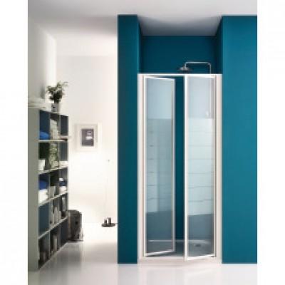 Paroi de douche battante largeur 76/82cm verre transparent BASIC SEGMENT