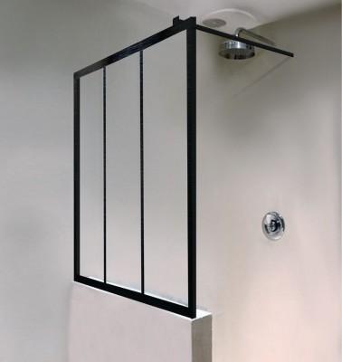 Paroi de douche PHILLY ambiance Loft EI PW4 16010 NPE noir verre clair clean ROTHALUX